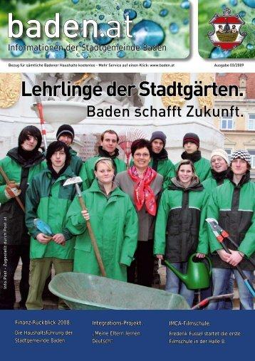 Lehrlinge der Stadtgärten. - Baden