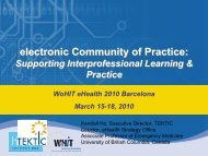 electronic Community of Practice: Supporting Interprofessional