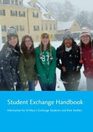 Student Exchange Handbook - St Mary's Anglican Girls' School