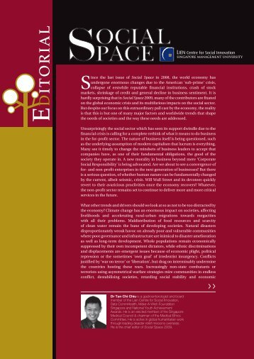 Social Space-mag.indd - Lien Centre for Social Innovation