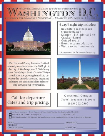 Washington D.C. - Travel Treasures & Tours