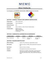 Silicon Tetraflouride - MEMC Electronic Materials, Inc.