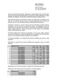 acta selecció tècnic especialista biblioteca - Ajuntament de ...