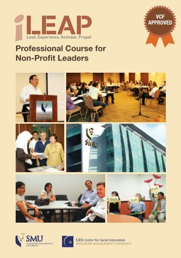 Professional Course for Non-Profit Leaders - Lien Centre for Social ...