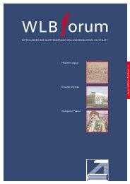 WLB Kultur - Württembergische Landesbibliothek