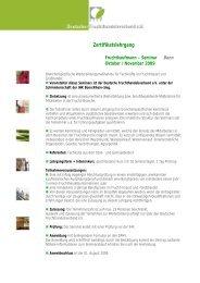 Programm und Anmeldung - Deutscher Fruchthandelsverband e.V.