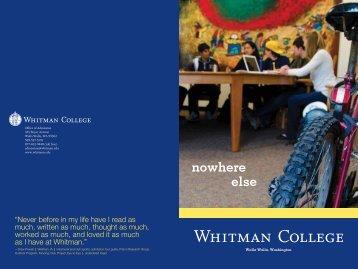 nowhere else - Whitman College