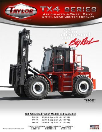 TX4 Series Brochure - Taylor Machine Works