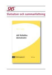 Slutsatser och sammanfattning 257.3 KB pdf - SNS