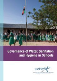 Governance of Water, Sanitation and Hygiene in ... - WASH in Schools