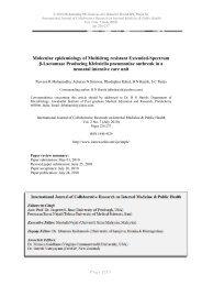 Molecular epidemiology of Multidrug resistant Extended ... - IOMC