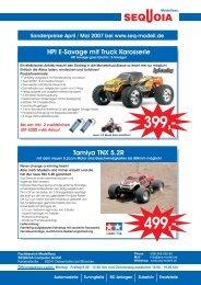 HPI E-Savage mit Truck Karosserie Tamiya TNX 5.2R