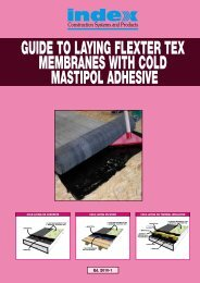 guide to laying flexter tex membranes with cold ... - Index S.p.A.