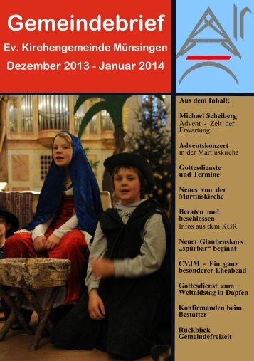 Januar 2014.pdf - Evangelische Kirchengemeinde Münsingen