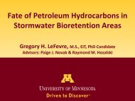 Biodegradation of Stormwater Petroleum Hydrocarbons in ...