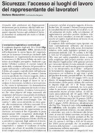 l'accesso ai luoghi di lavoro del rappresentante dei ... - UIL Basilicata