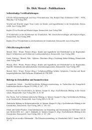Dr. Dirk Menzel - Publikationen - Phil.-So.