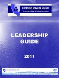 LEADERSHIP GUIDE - CA-NV AWWA