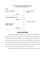 00-13359 Mark Allen Trible #2 - US Bankruptcy Court