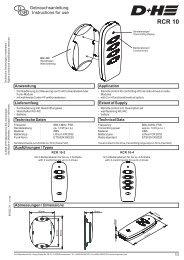 RCR 10 - Funk Fernbedienung (96KB) - D+H Mechatronic