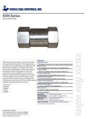 excess flow valves XVH Series