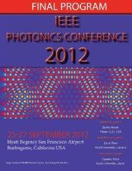 technical program wednesday 26 september 2012 - IEEE Photonics ...