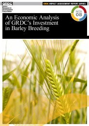 An Economic Analysis of GRDC's Investment in Barley Breeding
