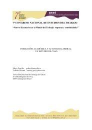Formación académica y actividad laboral. Un estudio de caso - ASET
