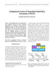 Ambipolarity Factor of Tunneling Field-Effect Transistors ... - JSTS