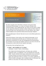 IT-Recht Newsletter Mai 2011 - Dr. Axel Czarnetzki LL.M.