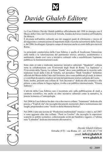 2009-02 pagine a seguire.cdr - Davide Ghaleb Editore