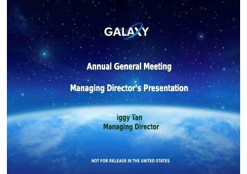 Annual General Meeting - Galaxy Resources