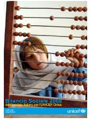 Bilancio sociale 2008 Comitato Italiano UNICEF