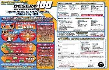 2010 Desert 100 Flyer - Stumpjumpers Motorcycle Club