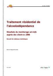 Recueil de tableaux statistiques - Addiction Suisse