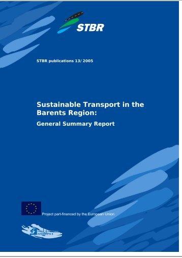 STBR Report Template - The Baltic Sea Region INTERREG III B