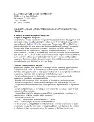 california state lands commission employee recognition program