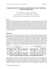 COMPENSATION OF ACTUATOR DELAY AND DYNAMICS FOR ...