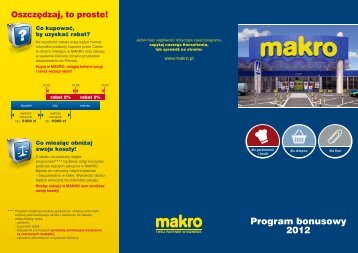 Program bonusowy 2012 - Metro