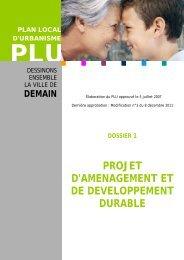 projet d'amenagement et de developpement durable - Besançon