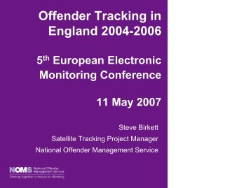 Offender tracking in England 2004 - CEP, the European ...