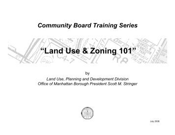 Land Use Training - Manhattan Borough President