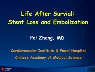 Life After Survial: Stent Loss and Embolization