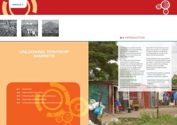 Module 2: Unlocking township markets - Urban LandMark