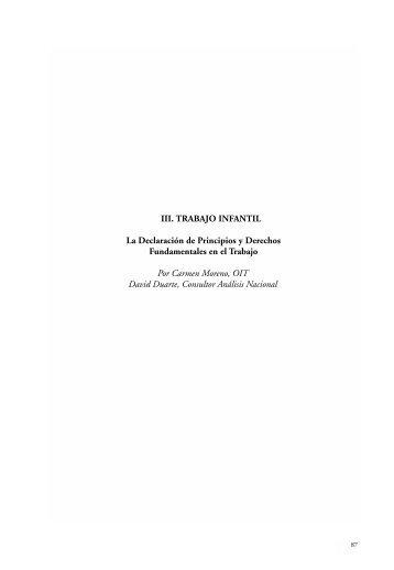 III. TRABAJO INFANTIL La Declaración de Principios y ... - Oit