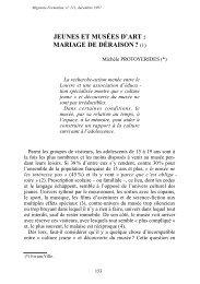 JEUNES ET MUSÉES D'ART : MARIAGE DE DÉRAISON ? (1) - CNDP