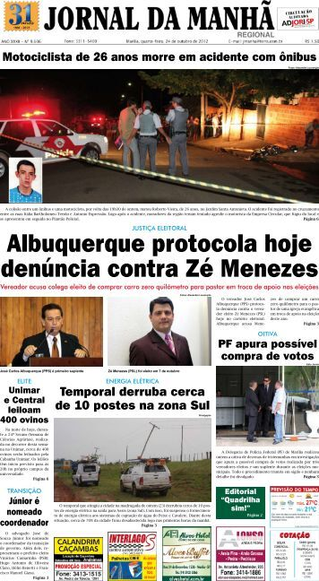 Albuquerque protocola hoje denúncia contra Zé ... - Jornal da Manhã