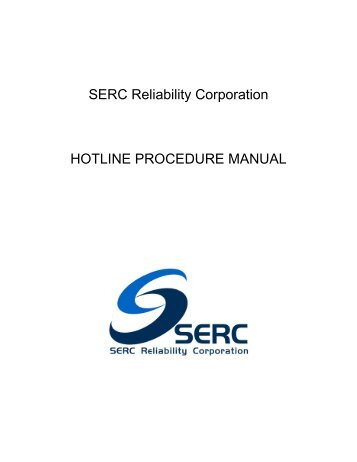 Hotline Procedures - Rev 3 (10-20-11).pdf - SERC Home Page