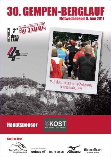 30. GEMPEN-BERGLAUF - Jura-Top-Tour