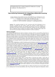 New authoring frameworks for integrating collaborative ... - TeLearn